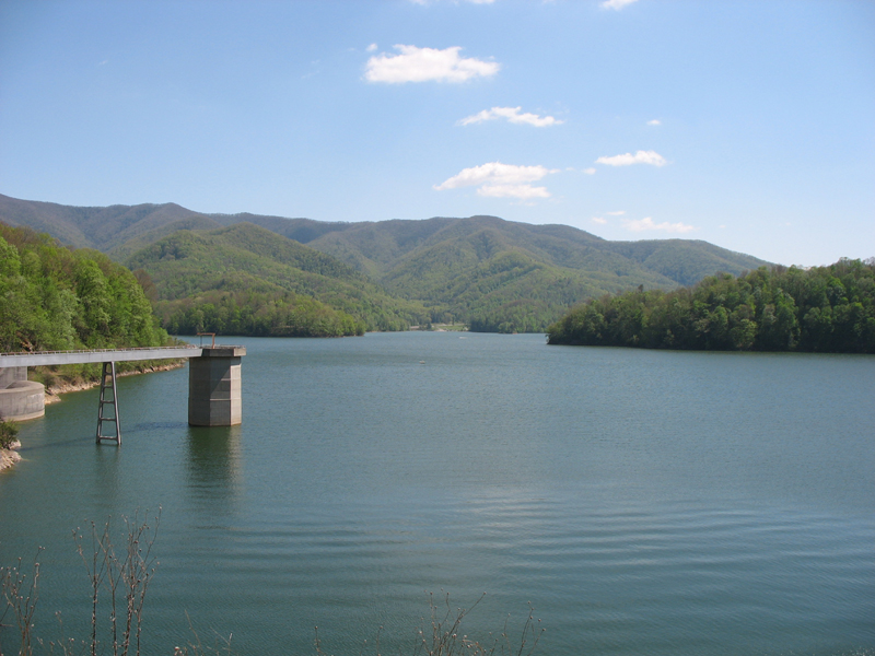 Watauga Lake from Watauga Dam (courtesy: Wikicommons)