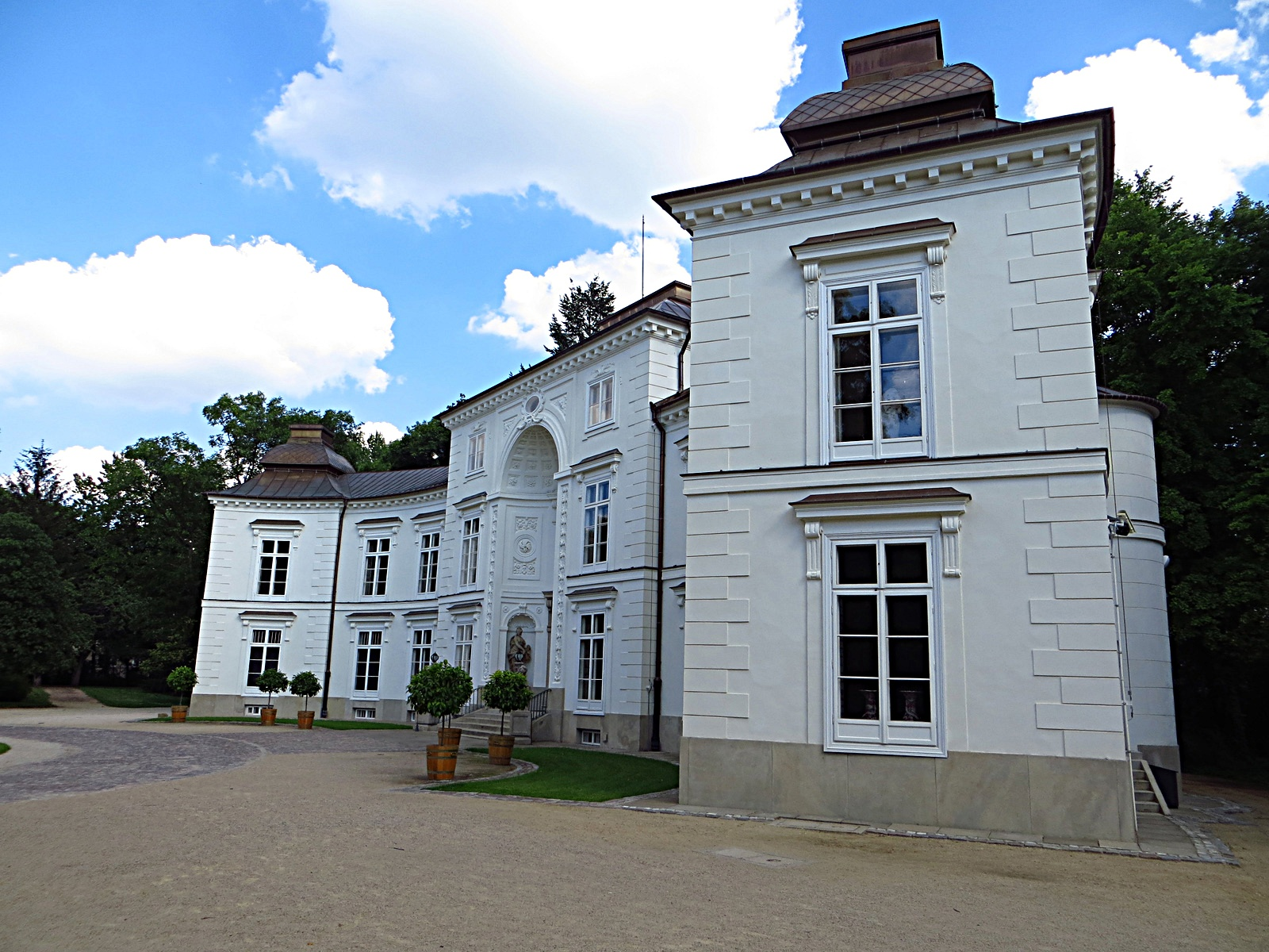 Filełazienki Królewskie Pałac Myślewicki Panoramio