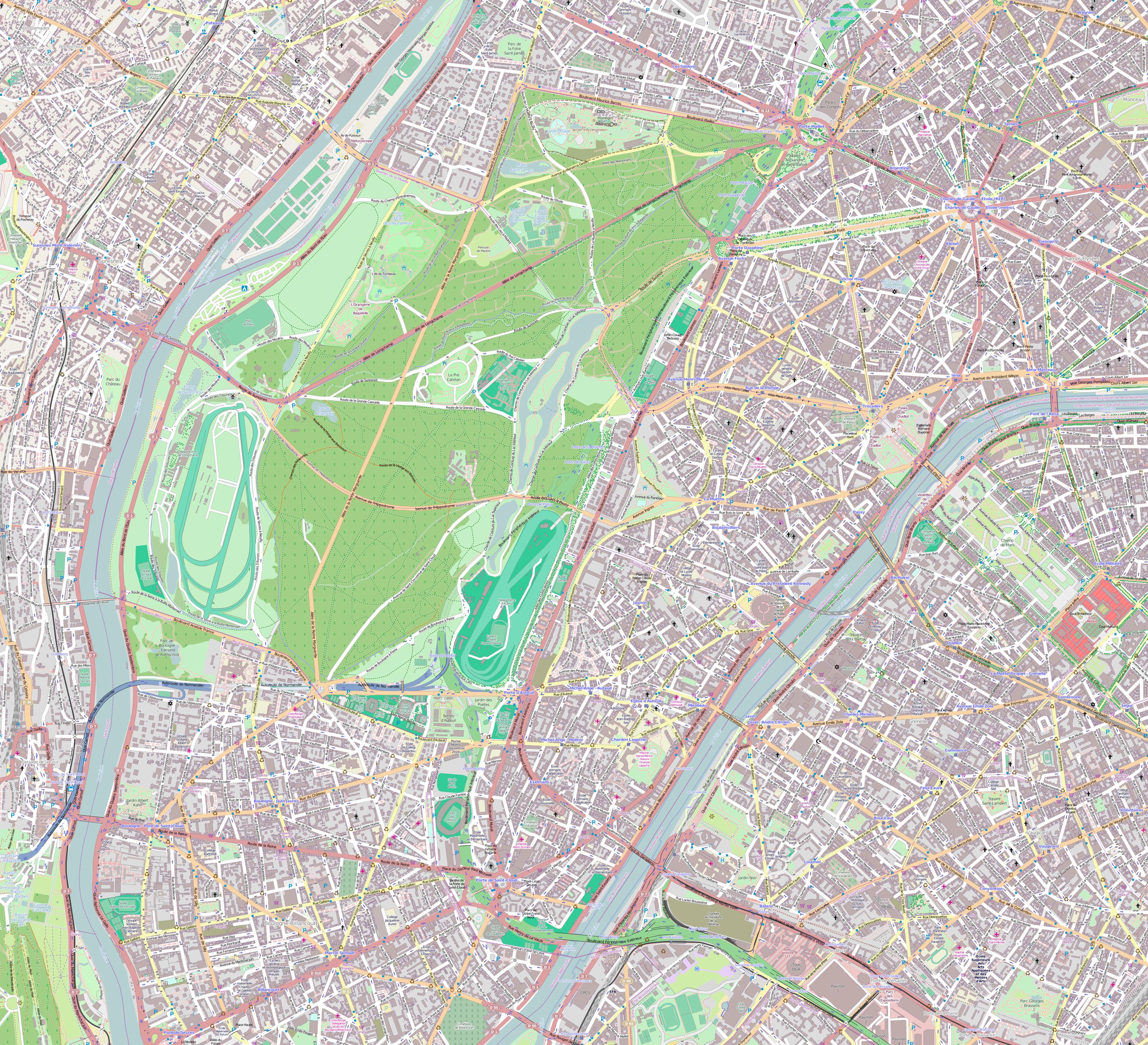 file16e arrondissement paris france open street mappng