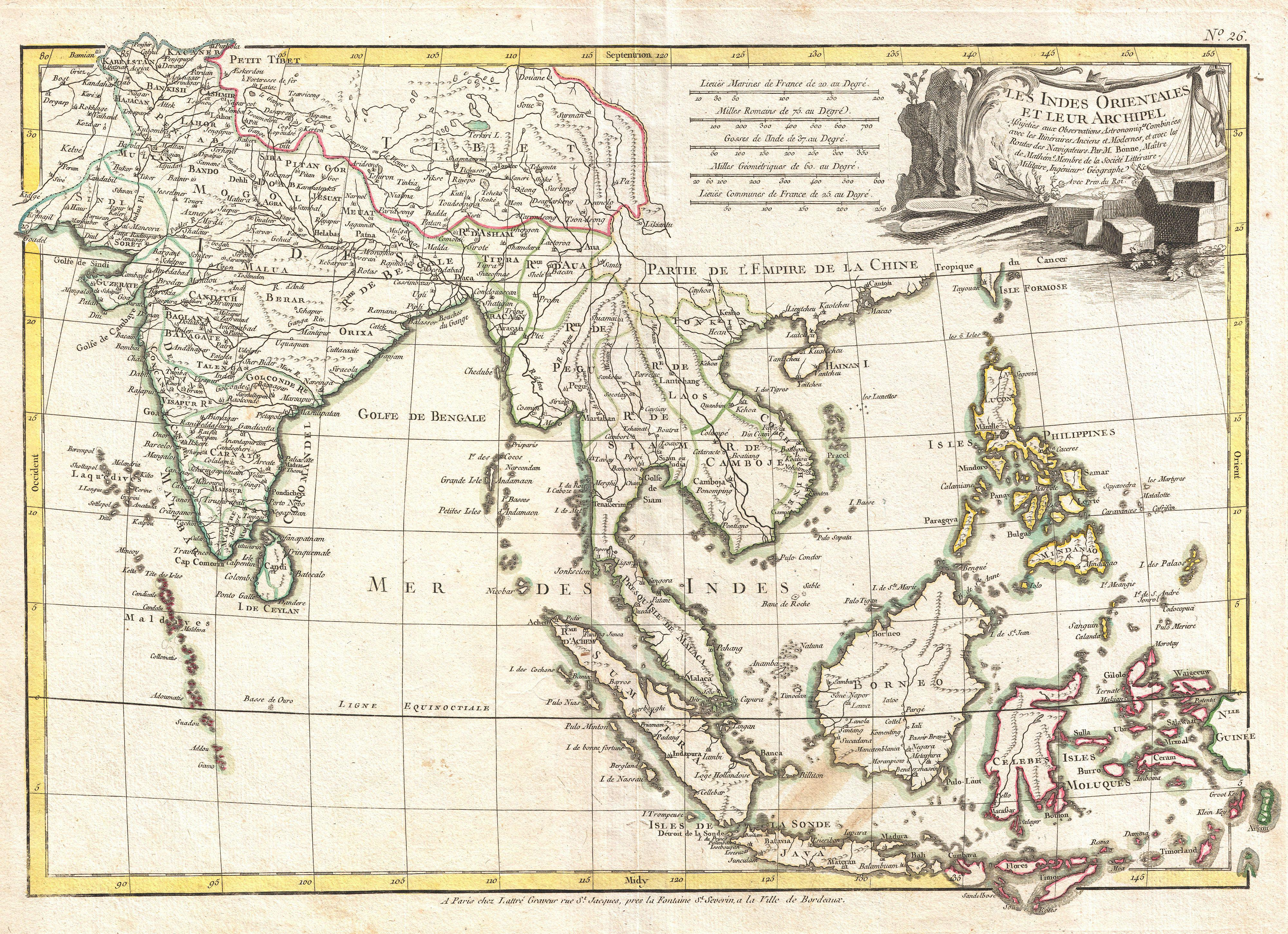 Kin trc vit vietnam architecture old maps of southeast asia 1780 raynal and bonne map of southeast asia and the philippines gumiabroncs Image collections