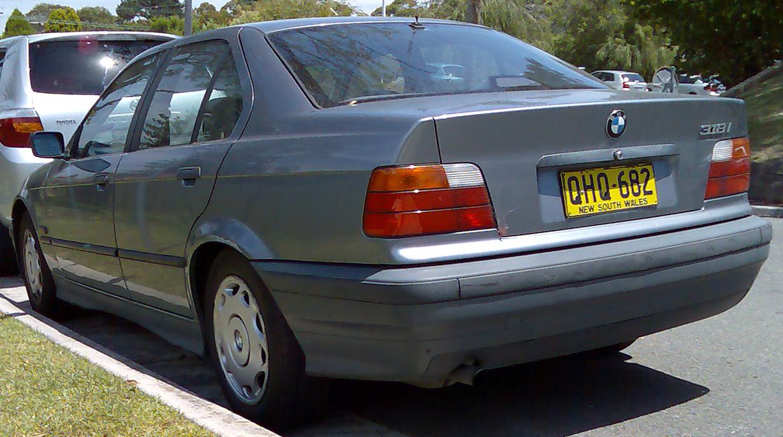 File 1991 1996 Bmw 318i E36 Sedan 02 Jpg Wikimedia Commons