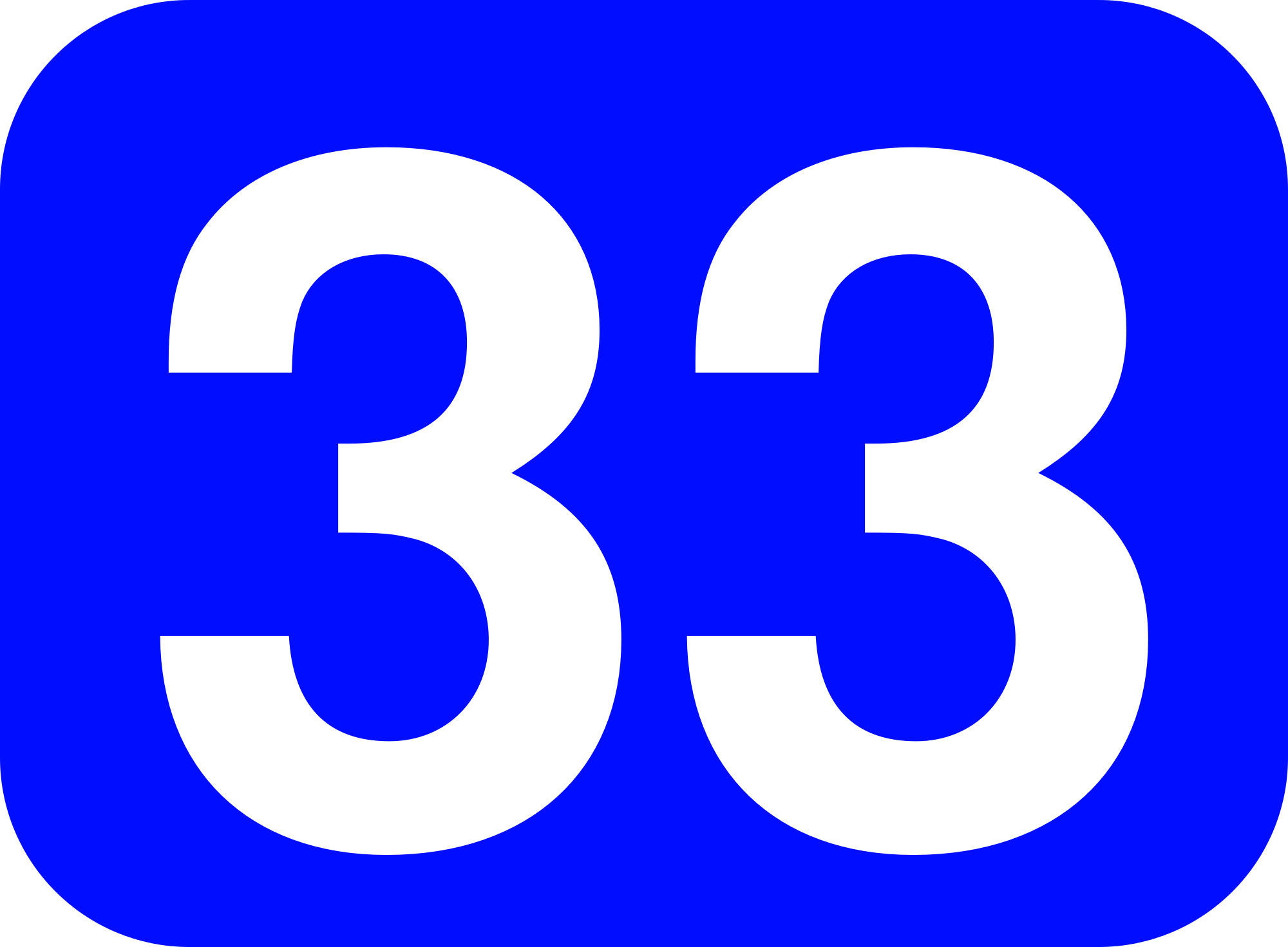 File:33 white, blue rounded rectangle.png