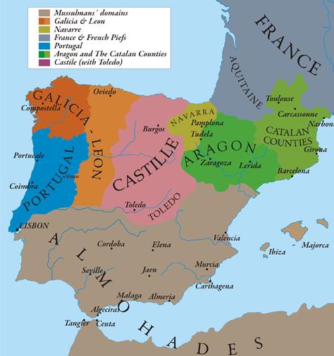 * The Kingdom of Castile in 1210.