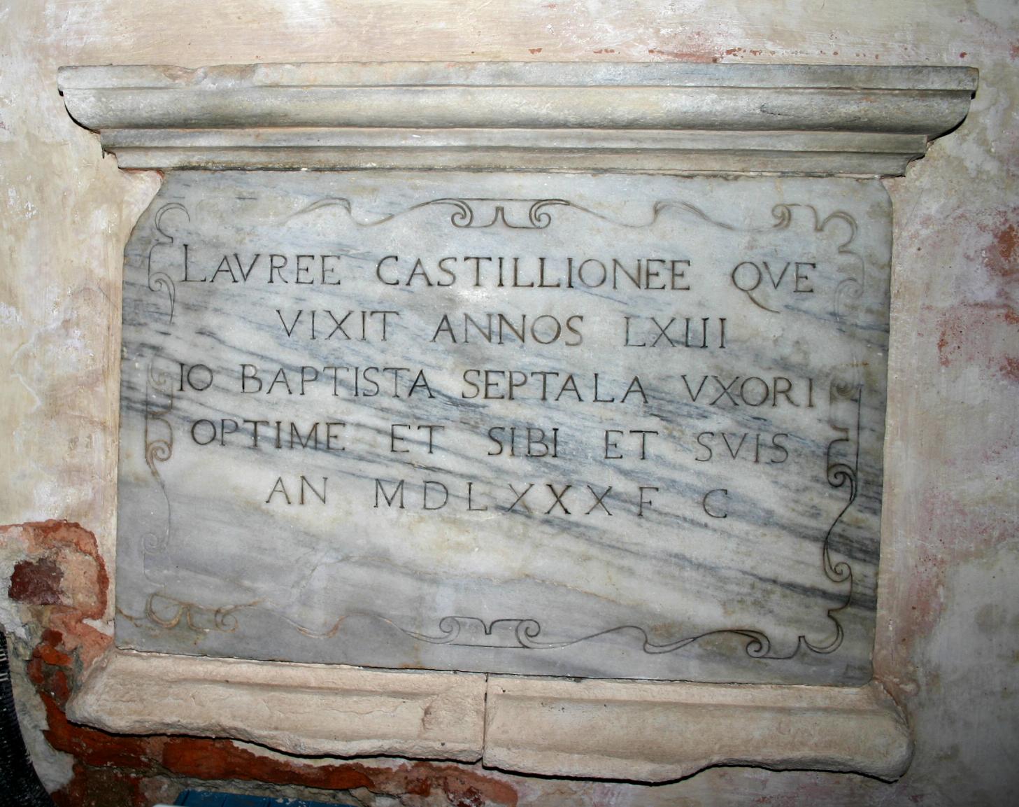 File:8573 - Milano - San Marco - Lapide Laura Castiglioni e Gio Batt ...