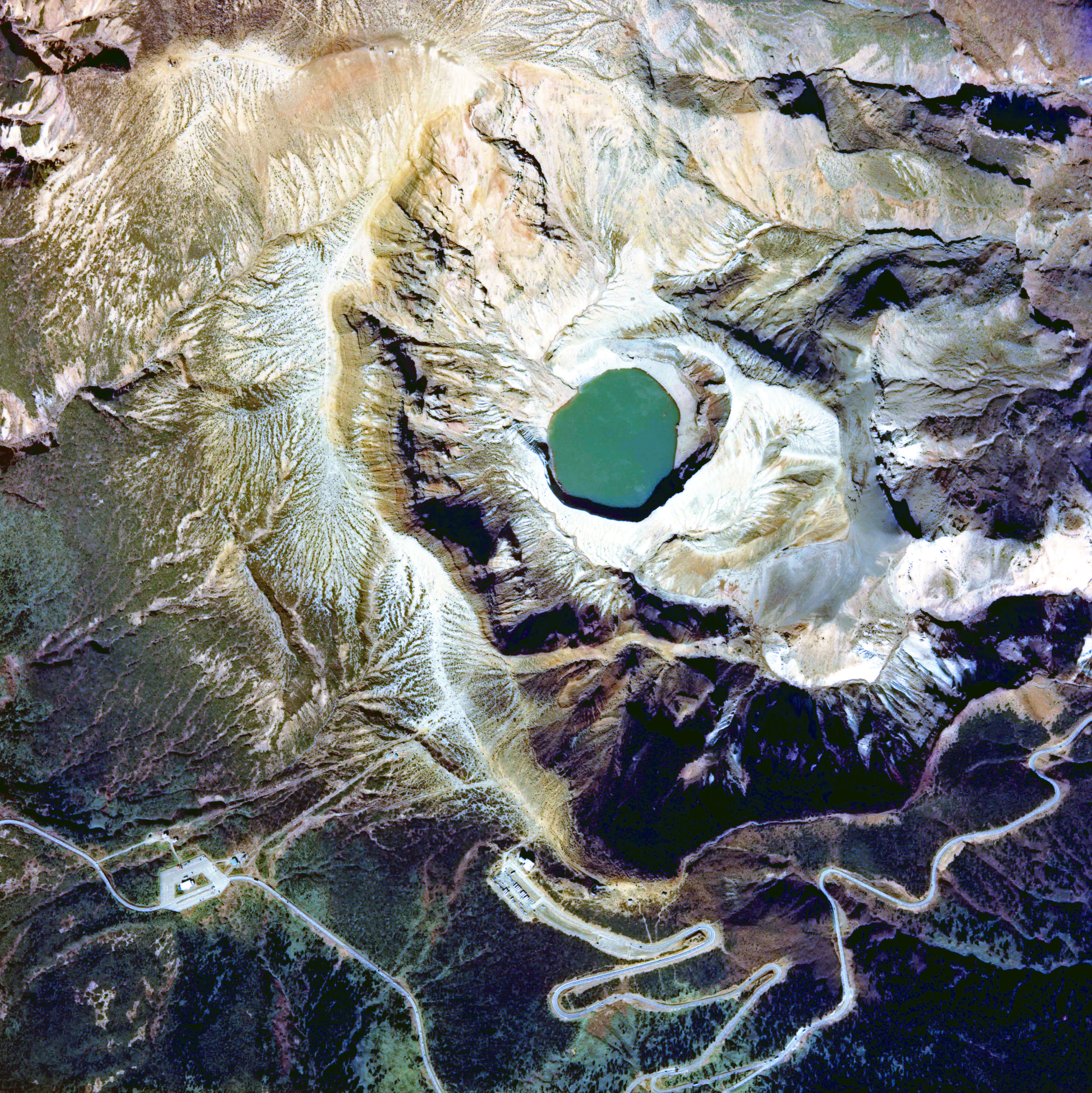Aerial photo of Okama