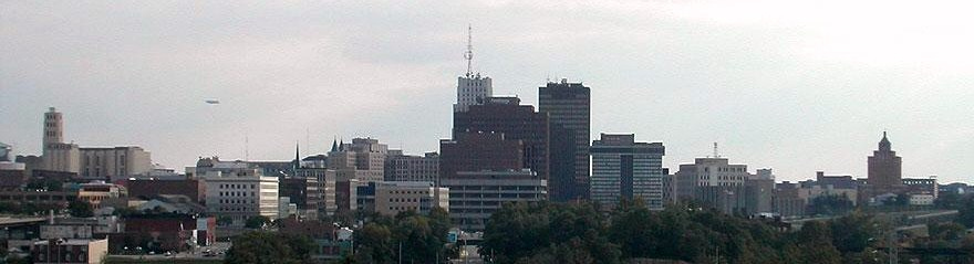 File Akron Ohio With Blimp Floating Over Skyline Crop Jpg