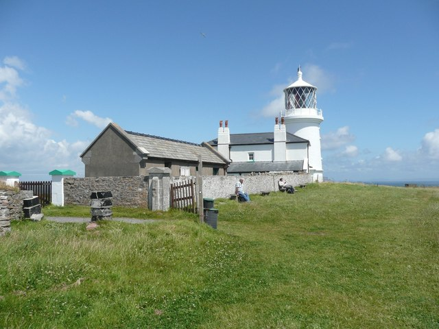 Amenity block and lighthouse, Caldey Island (Ynys Bŷr) - geograph.org.uk - 958150