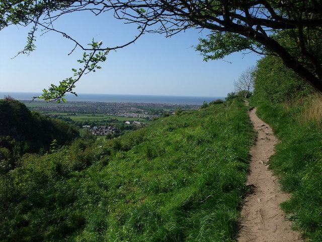 Approaching Prestatyn along the escarpment above Meliden - geograph.org.uk - 1334529