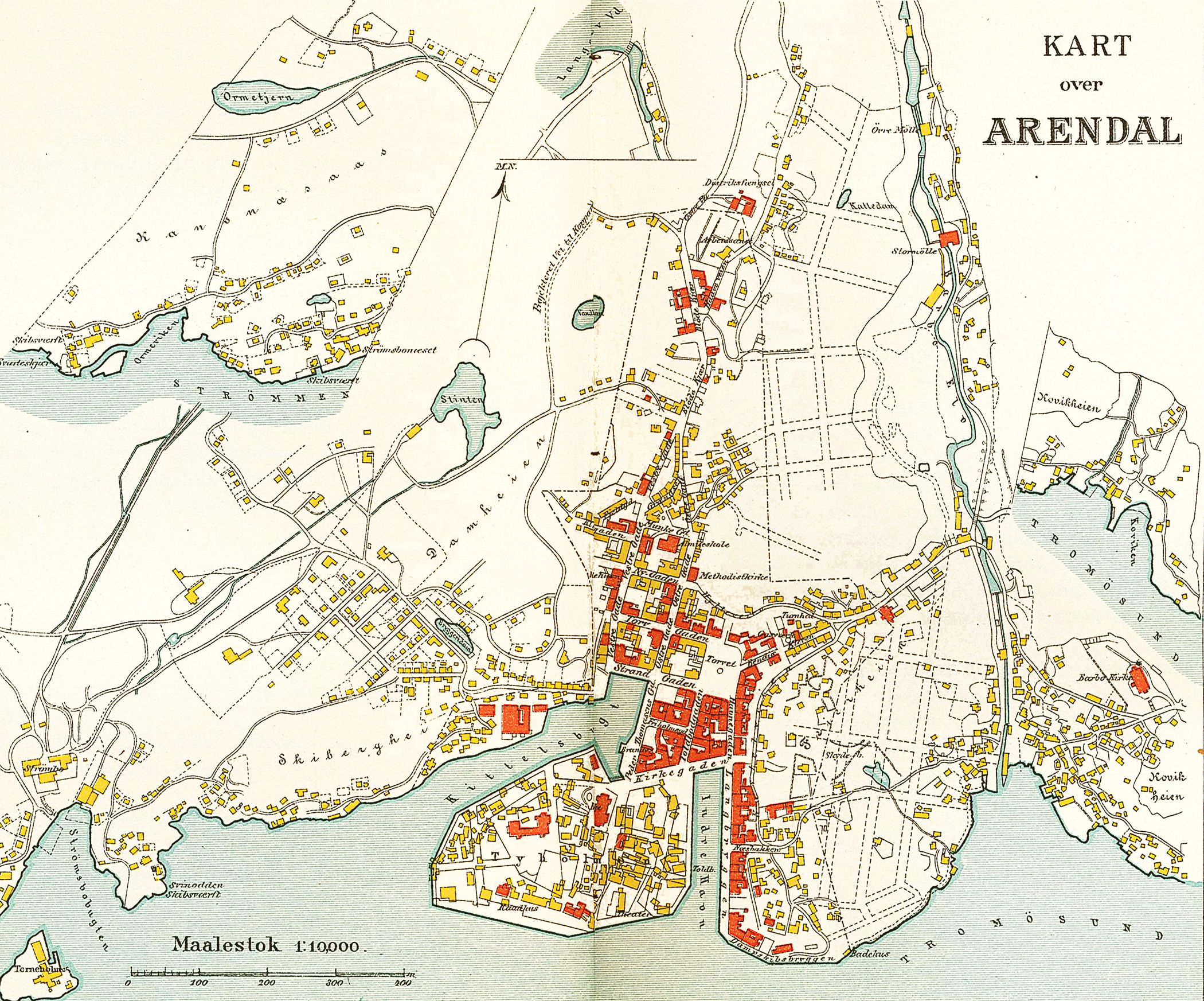 File Arendal Map 1904 Jpg Wikimedia Commons