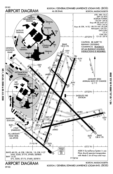 Boston logan airport map