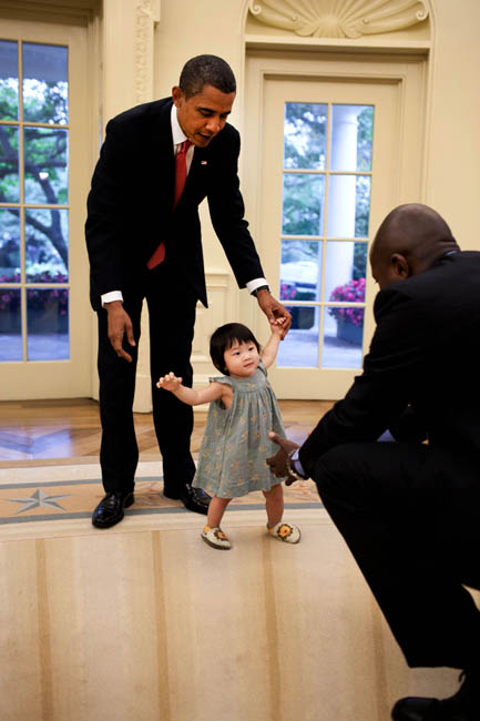 President Obama and His Niece