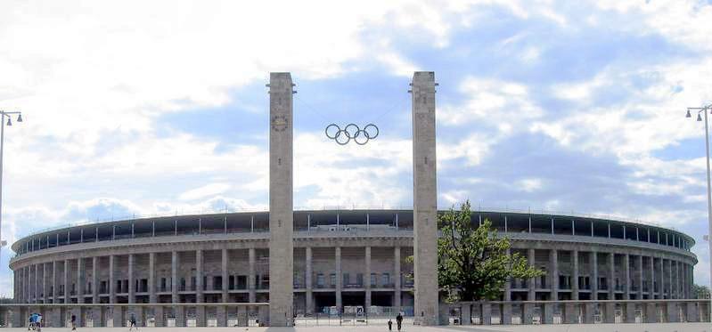 Das Olympiastadion in Westend