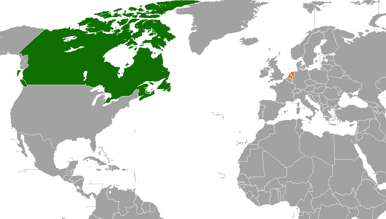 Canada–Netherlands relations - Wikipedia on map of the states and canada, map of the west coast and canada, map of the americas and canada,