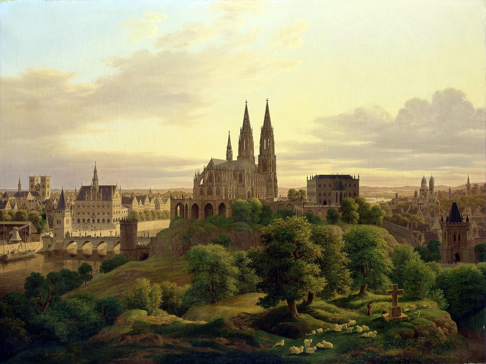 German Landscape Oil Paintings