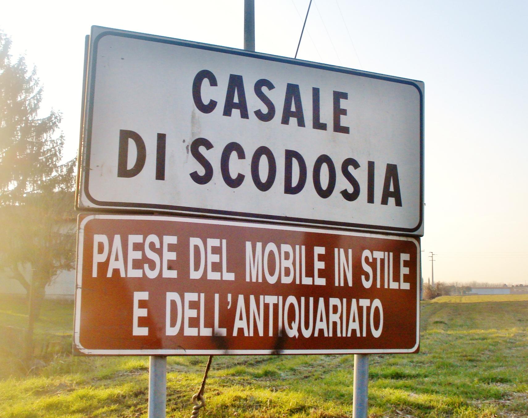 Casale di scodosia welcome sign paese del mobili - Casale di scodosia mobili ...