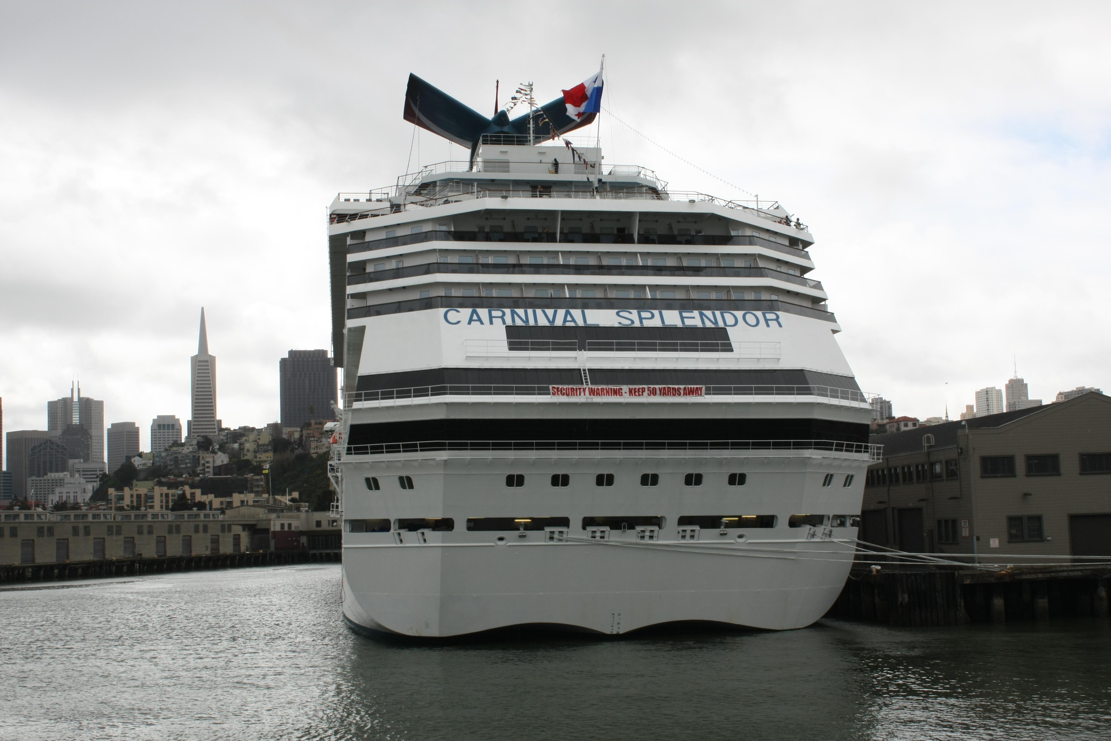 FileCruise Ship Carnival Splendor Stern View San Francisco - Cruise ships from san francisco
