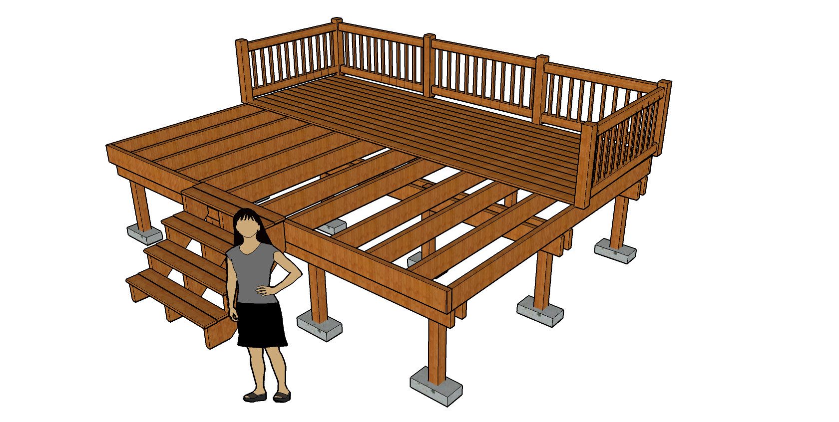 File Deck Diagram Showing Footers Posts And Joists Png