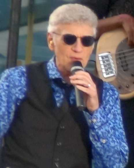 Dennis DeYoung performing on August 25, 2014