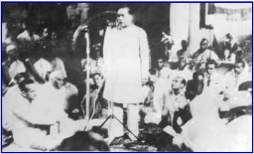 Dr B R Ambedkar addressing the World Buddhist Conference at Rangoon Myanmar) in December 1954. Source: Wikimedia Commons