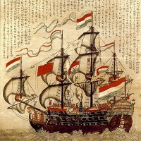 English: Dutch East India Company Merchant Ship