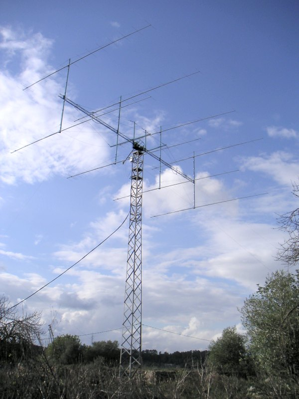 Amateur radio EME station antenna