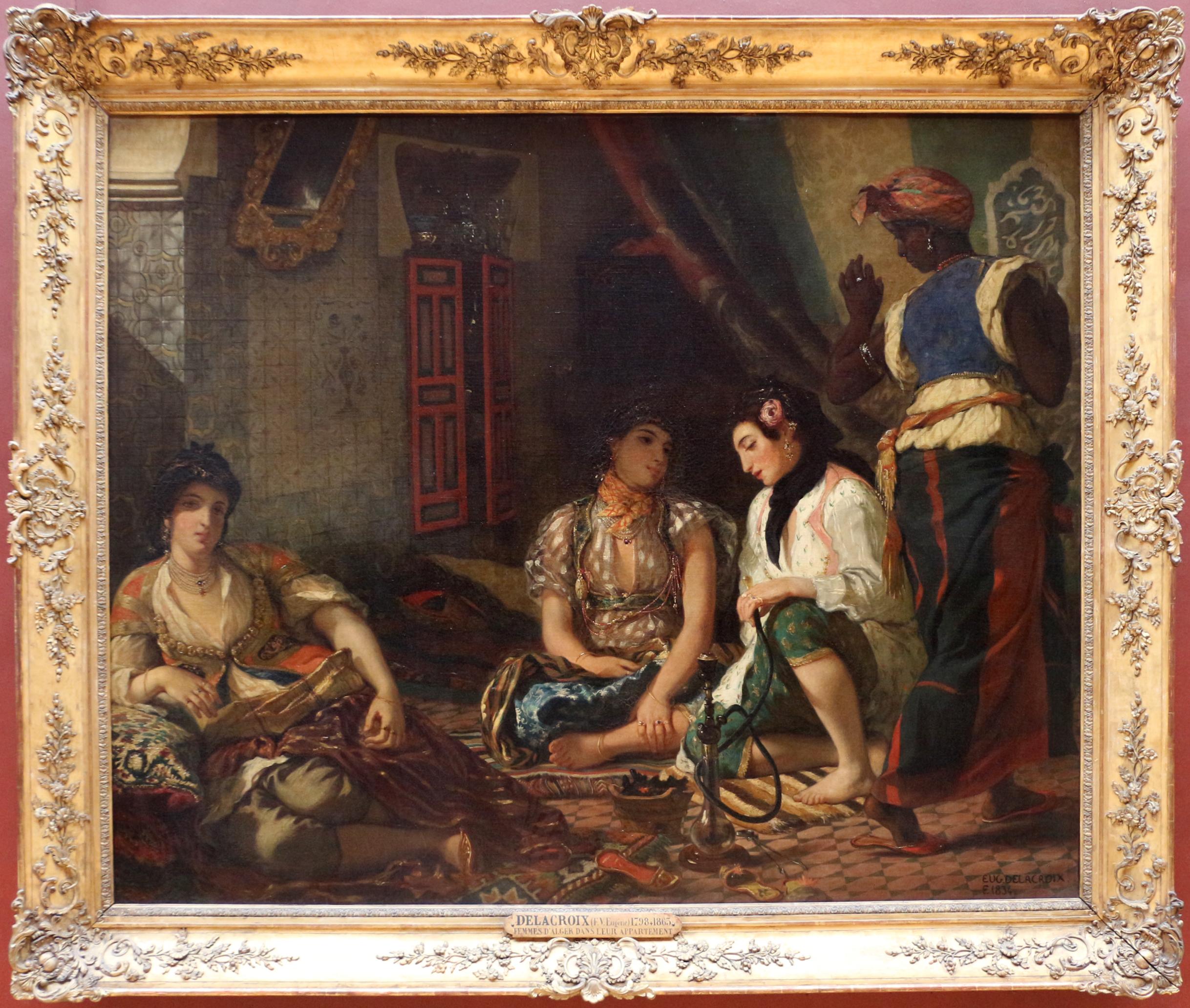 Fileeugène Delacroix Le Donne Di Algeri Nei Loro