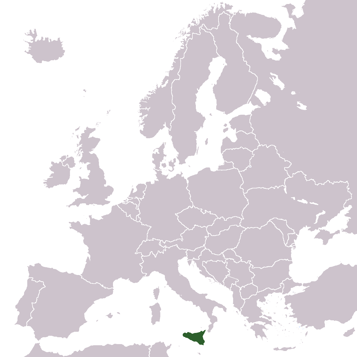 Map Of Europe Sicily