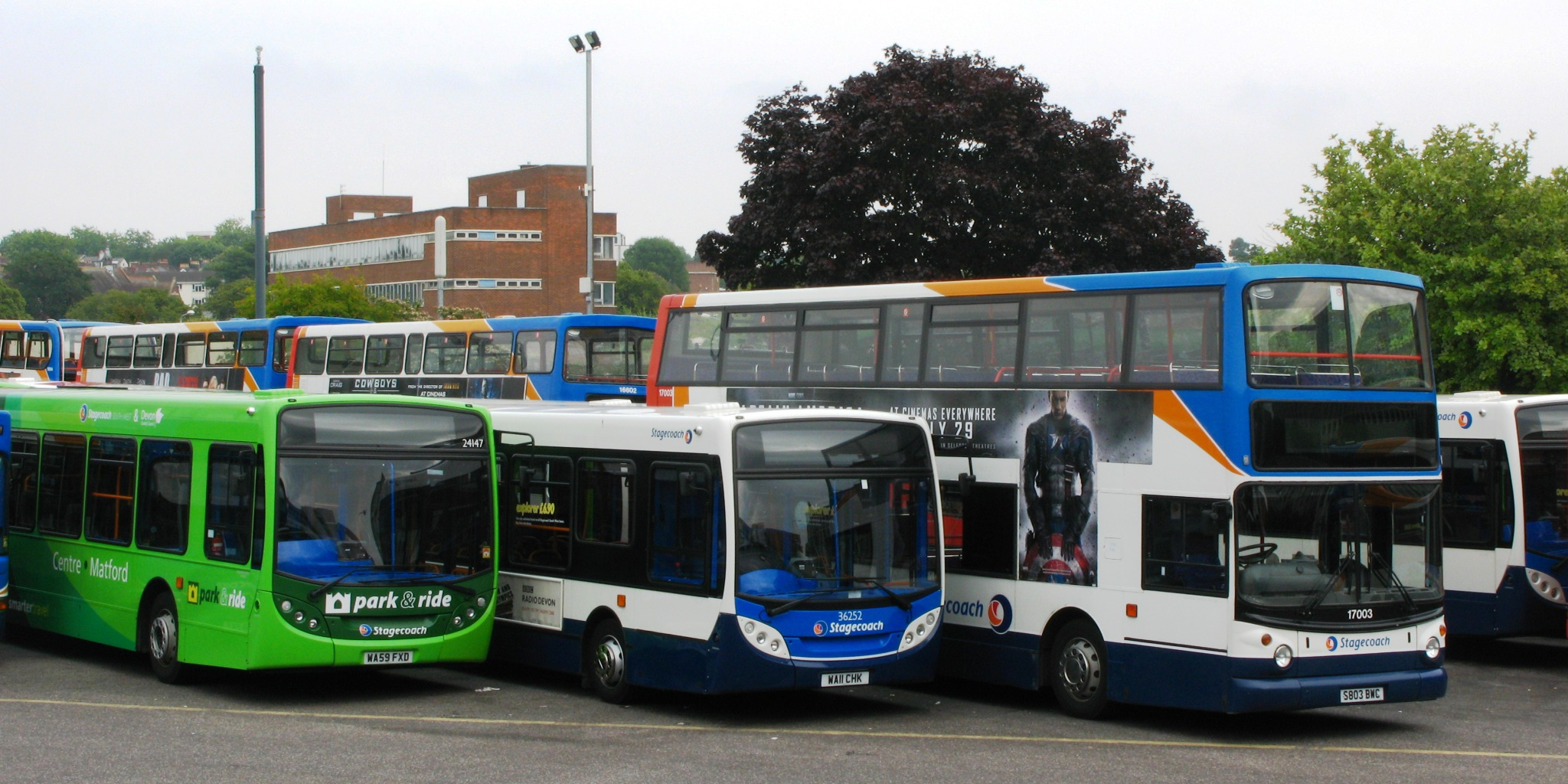 File Exeter Bus Station Stagecoach 24147 Wa59fxd 36252
