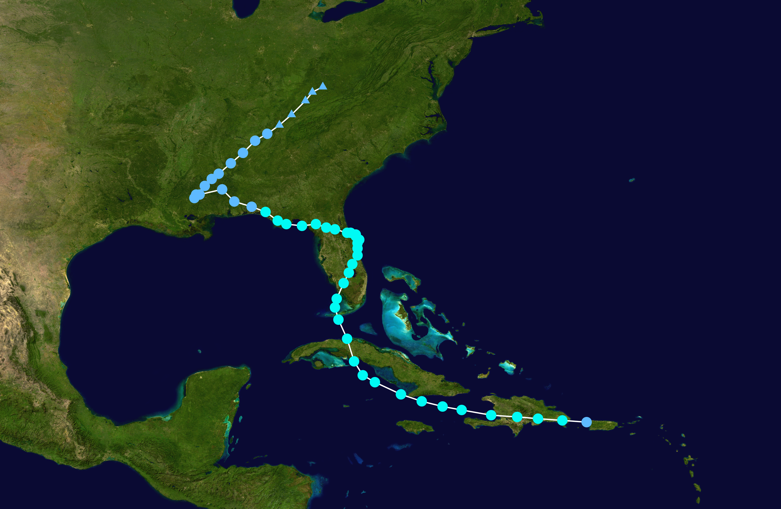 Tropical Storm Fay path