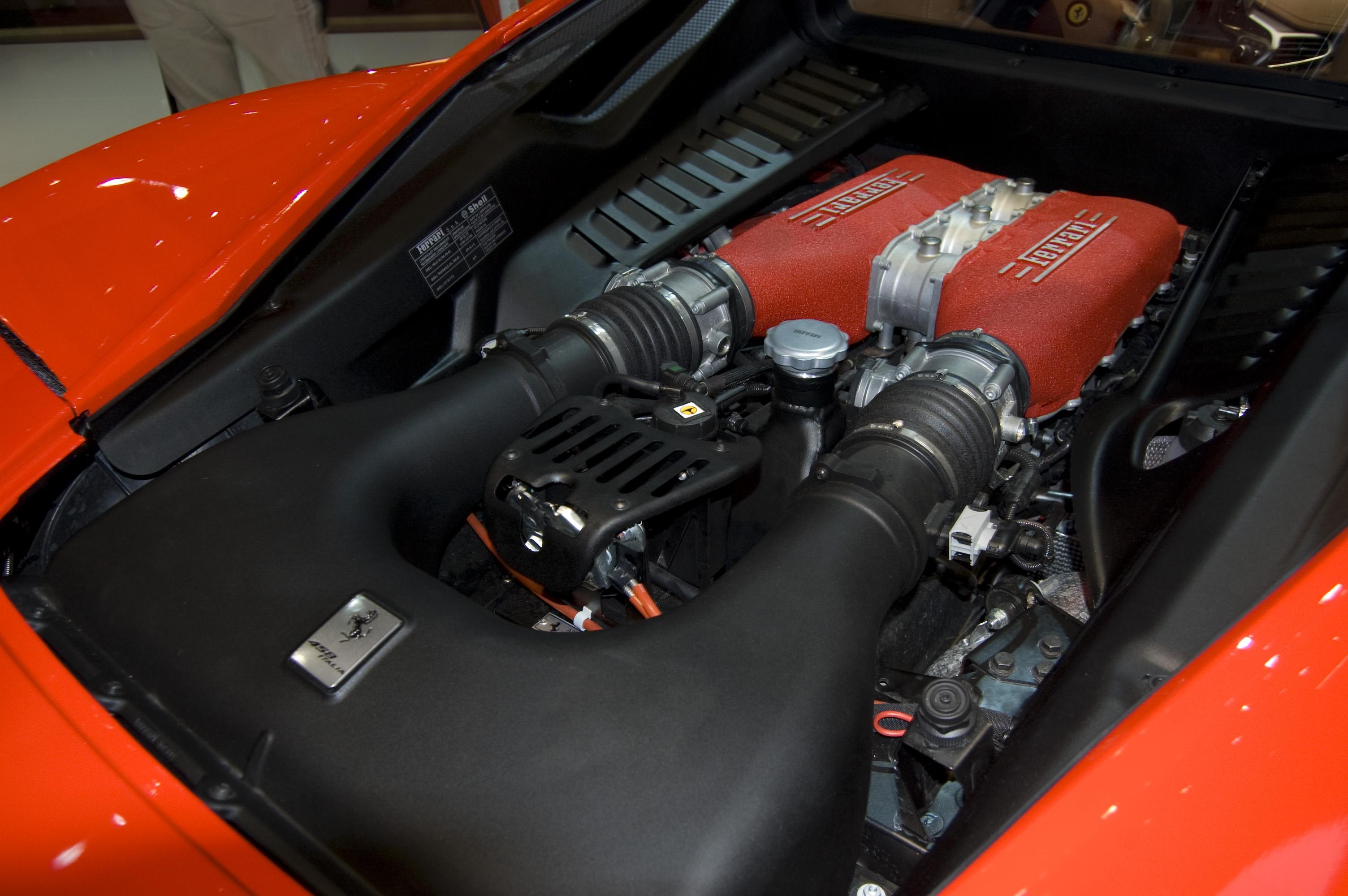 File Ferrari 458 Italia Engine Jpg Wikimedia Commons