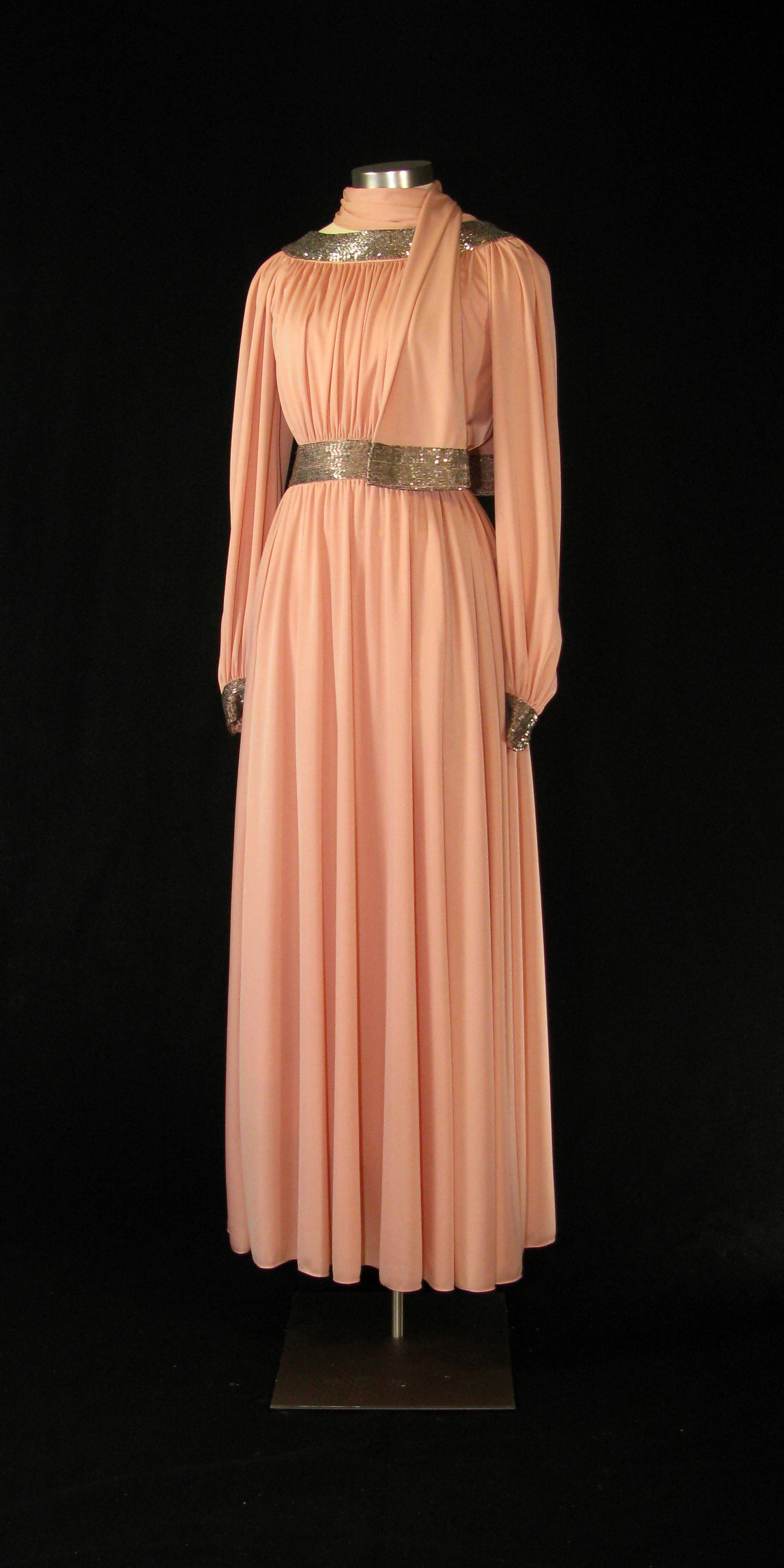 File First Lady Betty Ford S Pink Dress With Bugle Beads