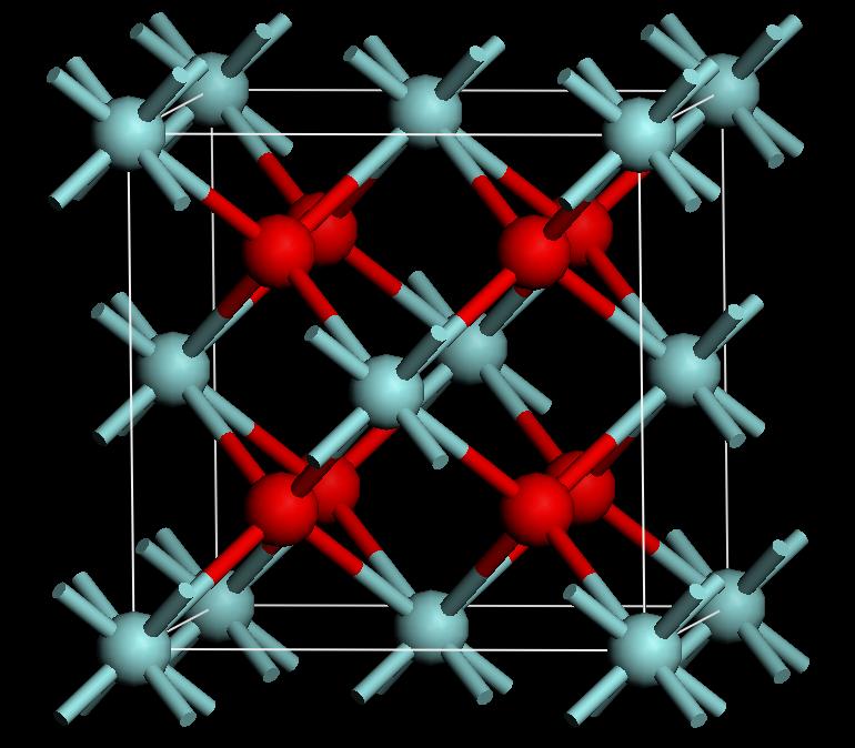 Zircon crystal structure