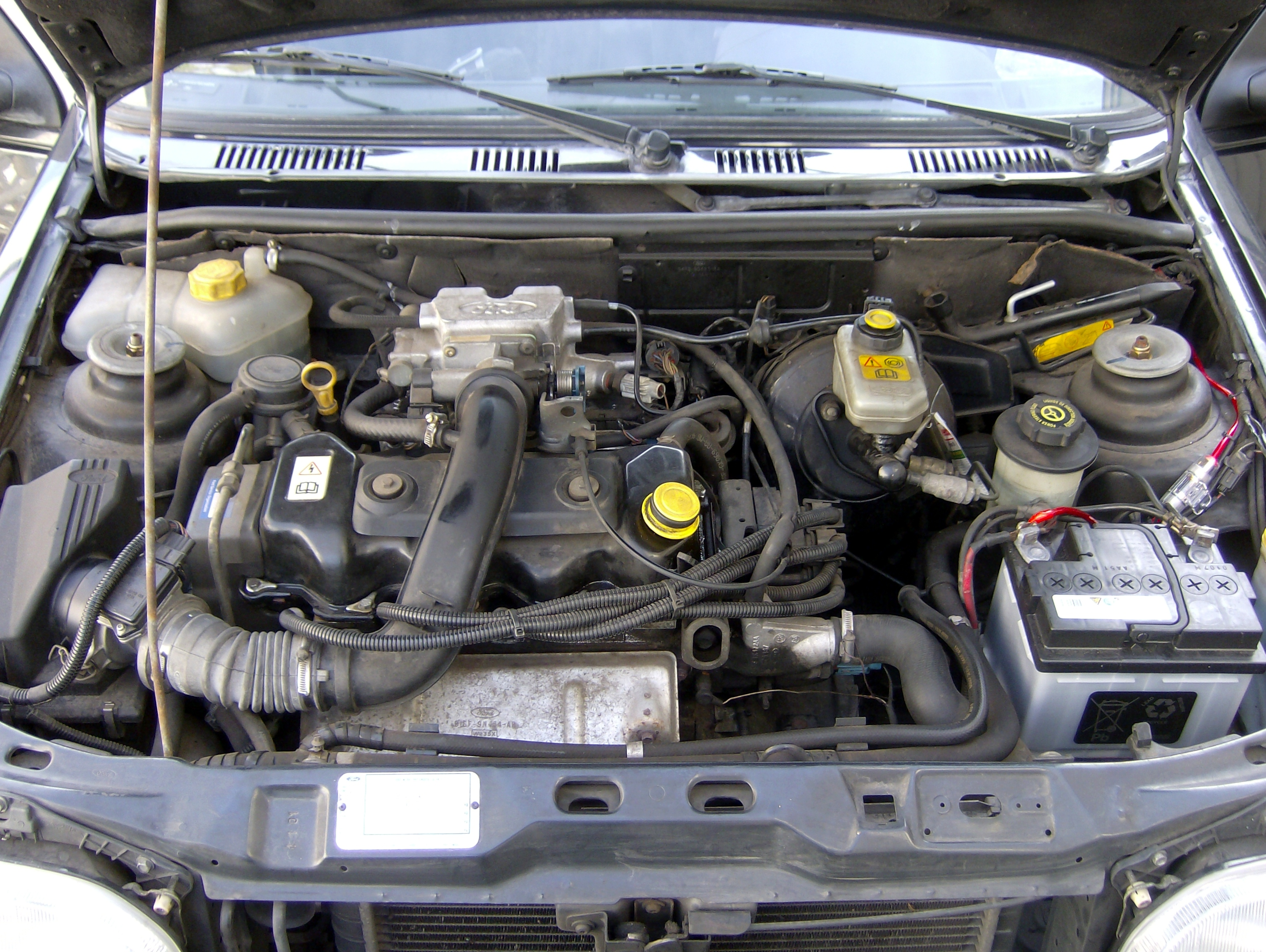 File Ford Fiesta Mk3 Gfj 1995 Engine Jpg Wikimedia Commons