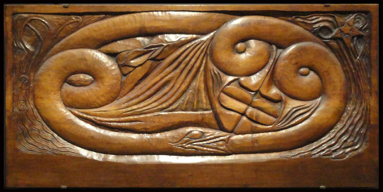 File georges lacombe  l existence carved wood