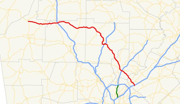 Map Of Georgia Hwy 75.Georgia State Route 140 Wikipedia