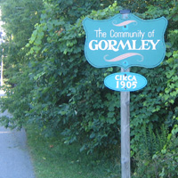 A sign found on Gormley Road East.