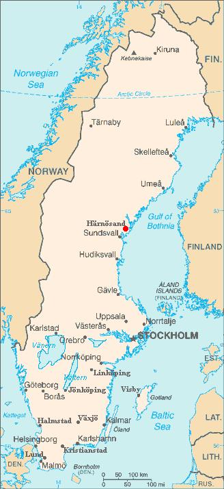 Harnosand map ile ilgili görsel sonucu Harnosand map