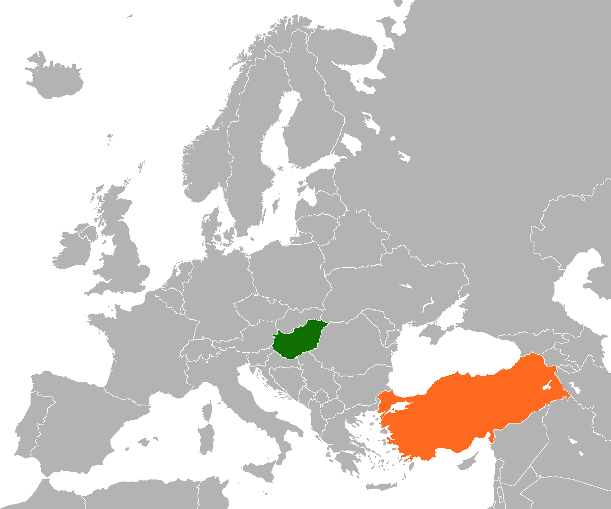 Where is Hungary and Turkey? Located here.