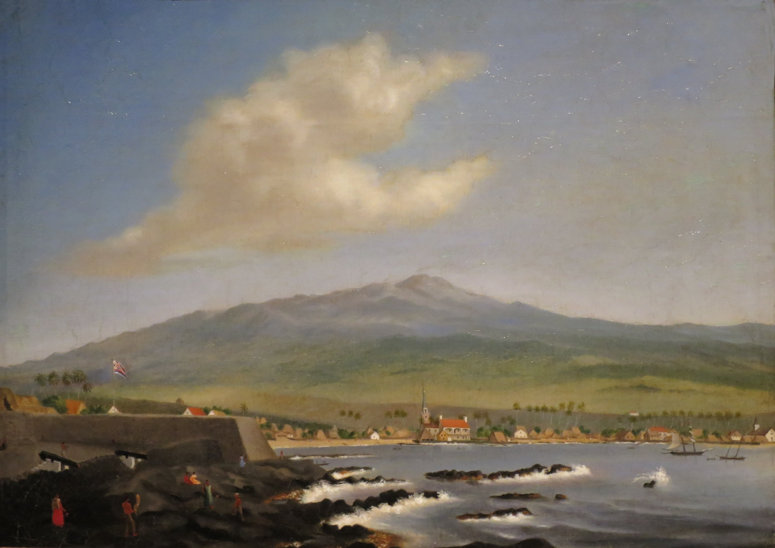 File:James Gay Sawkins, England, 1806-1878, Kailua-Kona with