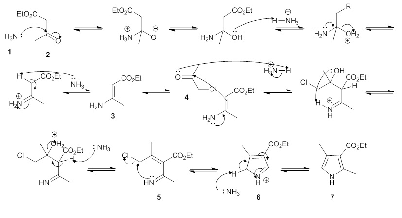 Mechanism for the Hantzsch Pyrrole Synthesis