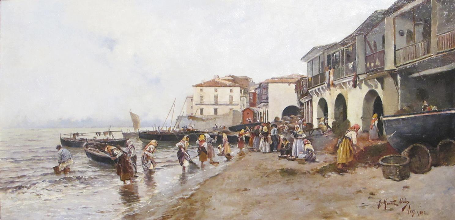 Recogida de algas en la ribera del Berbés (Vigo) (1892). Museo Carmen Thyssen (Málaga).