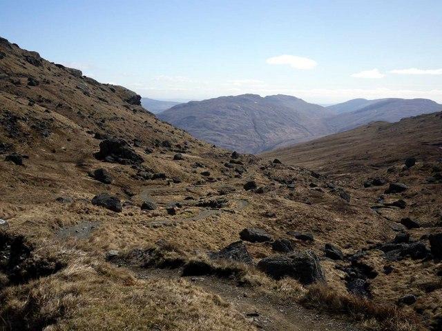 Looking down the Cobbler-Narnain path - geograph.org.uk - 1805022