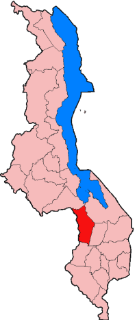 Location of Ntcheu District in Malawi