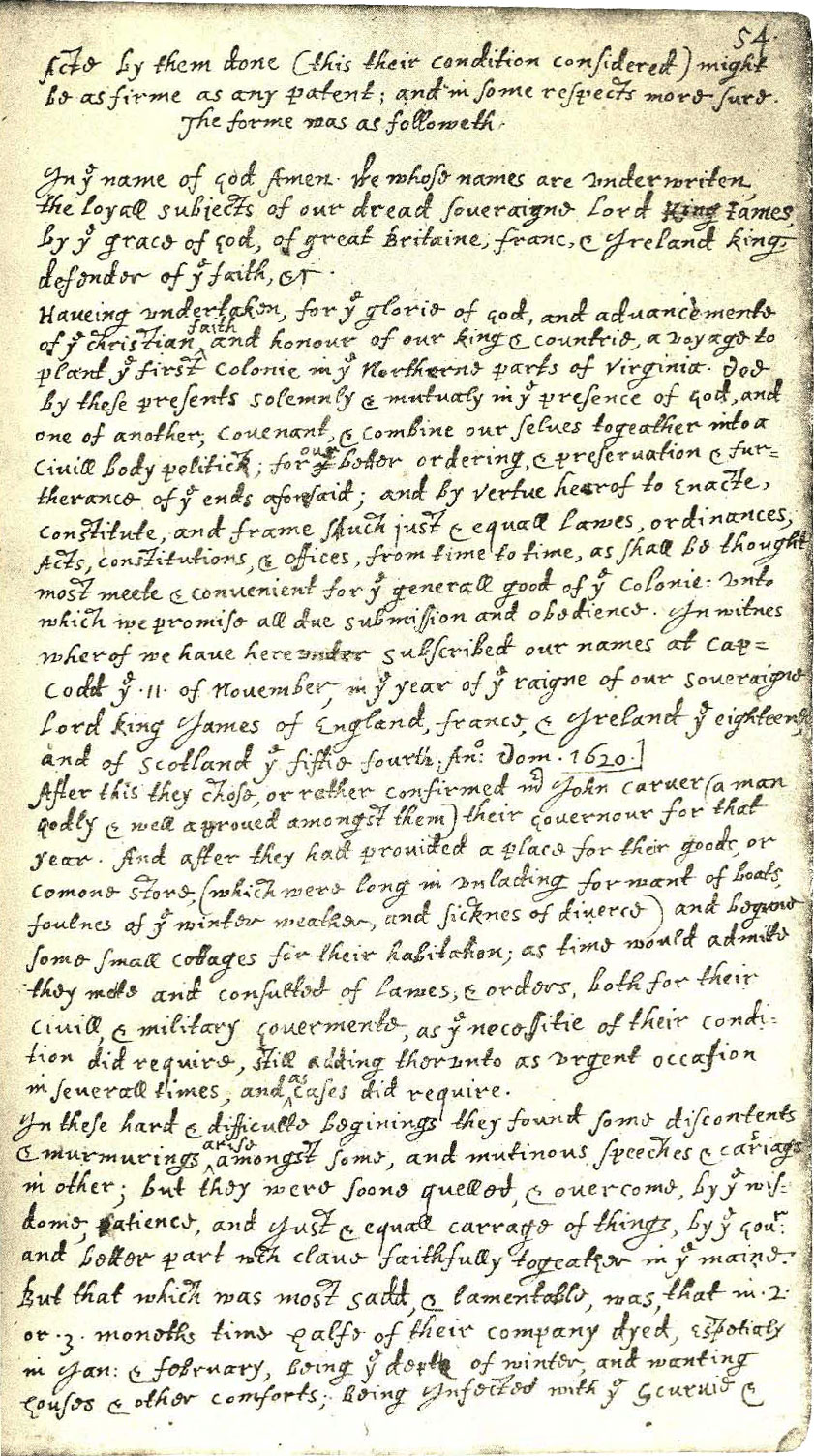 an analysis of the manuscript of william bradford Bradford's history of 'plimoth plantation', by william bradford bradford's history of plimoth plantation from the original manuscript with a report of the.