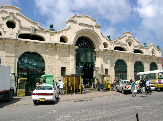 A market hall in Mombasa.