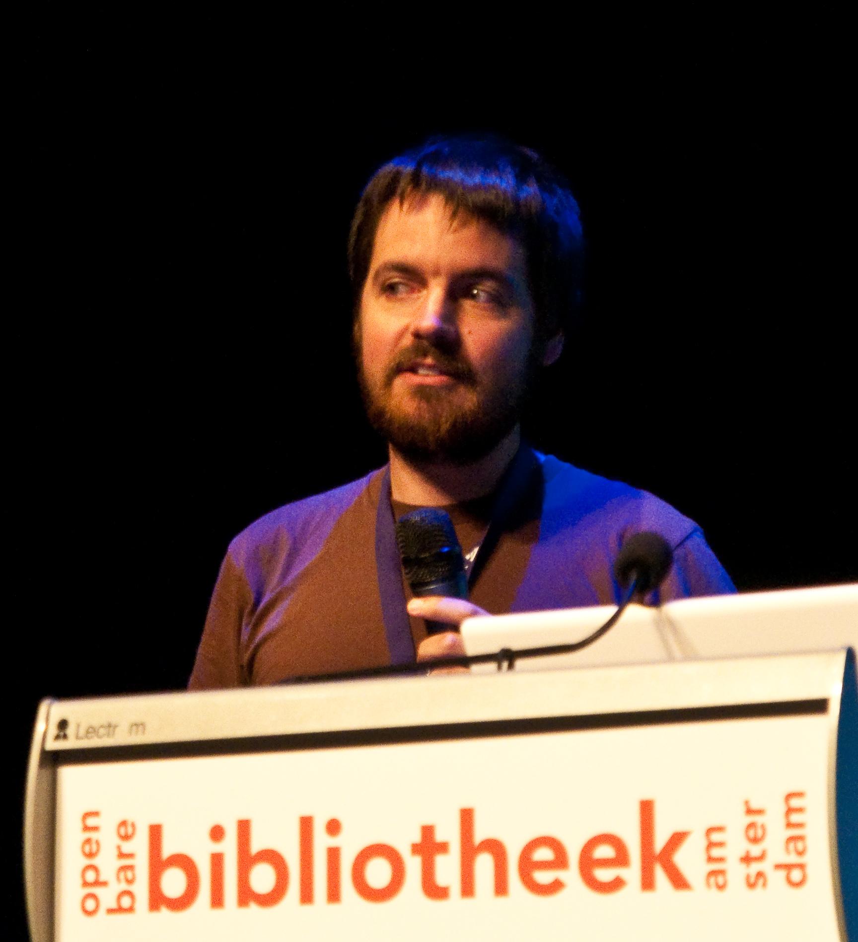 Nathaniel Tkacz at the Wikipedia Conference, 2010