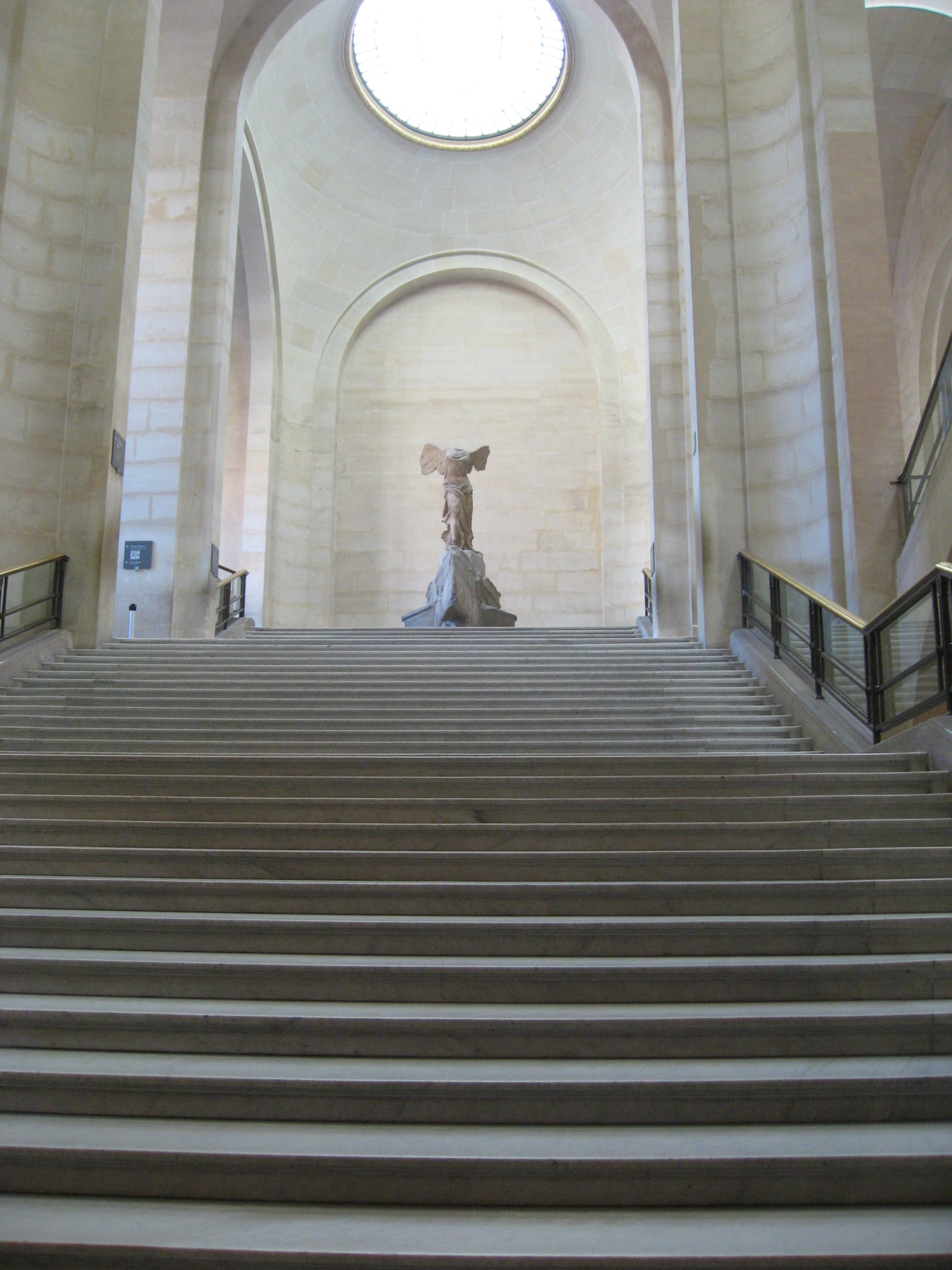File:Nike of Samothrace from the bottom of the stairs.JPG