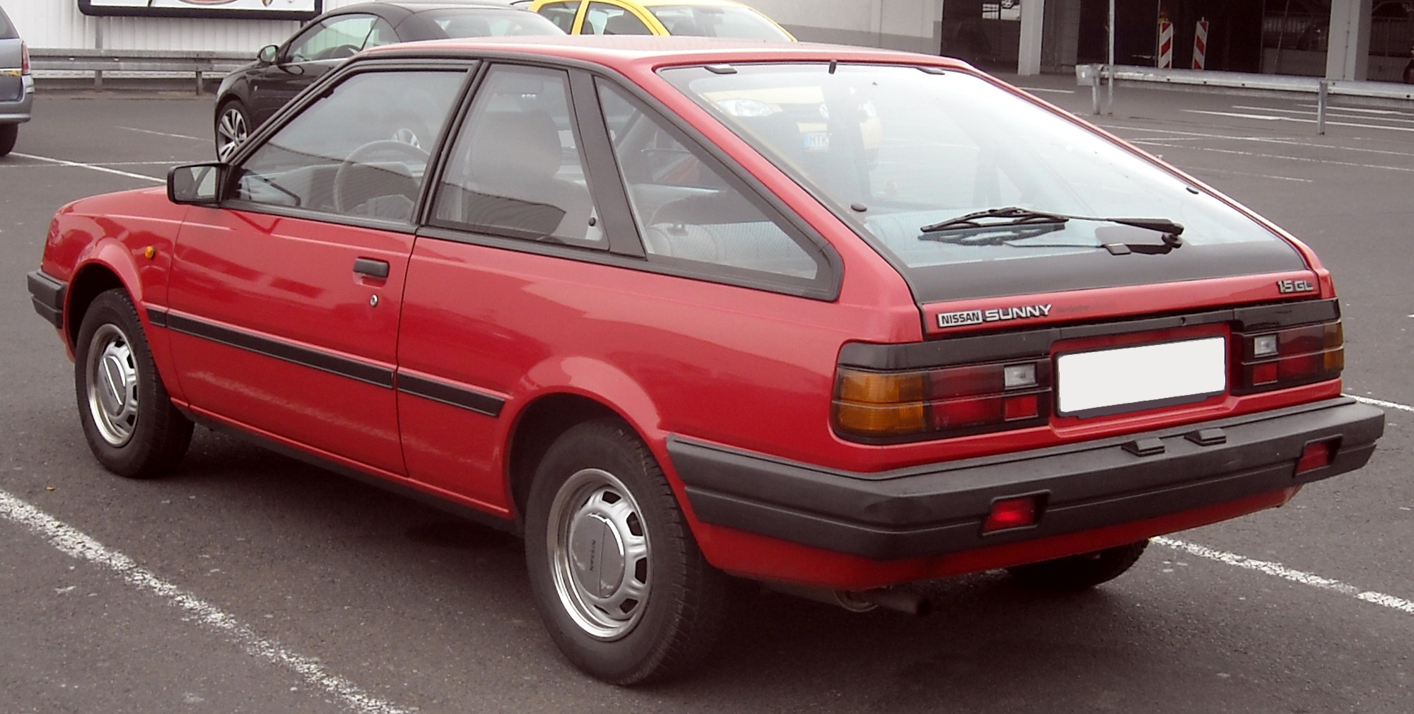 File Nissan Sunny B11 Coupe Rear 20100415 Jpg