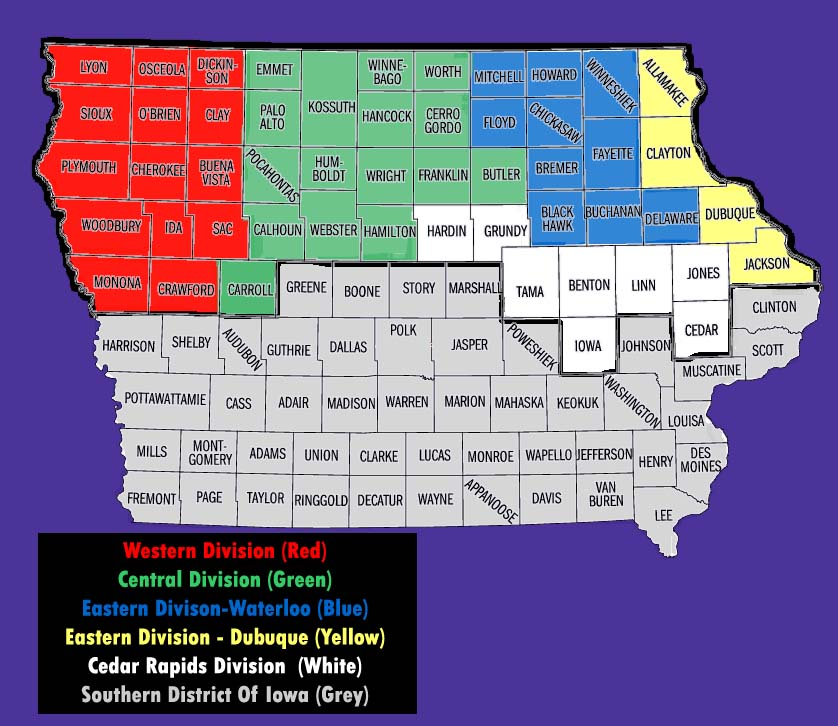 R Nine T >> United States District Court for the Northern District of Iowa - Wikipedia