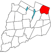 Location of Cherry Valley in Otsego County